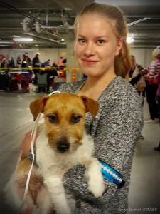 Jenni & Siru koiranäyttelyssä